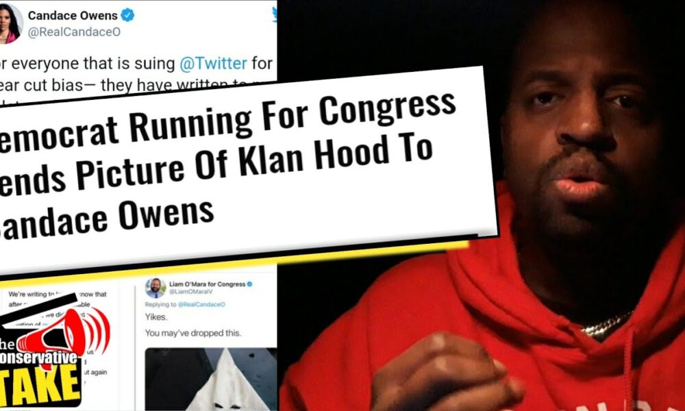 Democrat running for congress sends picture of klan hood to Candace Owens!