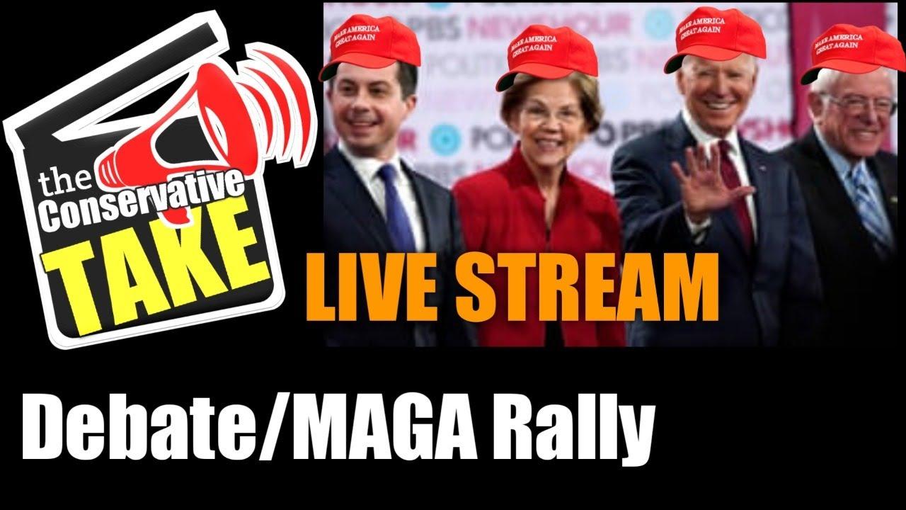 NEVADA! MAGA Rally/Dem Debate | Live Stream